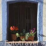 Detalle en la fachada de una casa. VALVERDE DE VERA. Provincia de Caceres. Extremadura. España - Spain