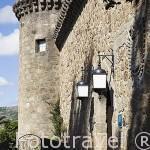 Exterior amurallado. Parador de Carlos V en el castillo de los Condes de Oropesa. Poblacion de JARANDILLA DE LA VERA. Provincia de Caceres. Extremadura. España - Spain