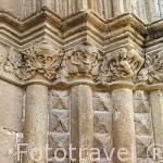 Detalle del portico. Iglesia de Santa Maria. Población de JARAIZ DE LA VERA. Provincia de Caceres. Extremadura. España - Spain