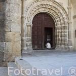 Iglesia de Nuestra Señora de la Asunción con torre militar del s.XIV - XVI. Población de CUACOS DE YUSTE. Provincia de Caceres. Extremadura. España - Spain