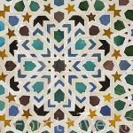 Panel alicatado. Museo de la Alhambra. Ciudad de GRANADA. Andalucia. España