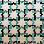 Alicatado con formas geometrica del periodo Nazari, s.XIV. Museo de La Alhambra. La Alhambra, UNESCO. Ciudad de GRANADA. Andalucia. España