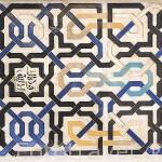 Alicatados con formas geometricas. Palacio de Comares. Palacios Nazaries. La Alhambra, UNESCO. Ciudad de GRANADA. Andalucia. España
