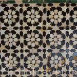 Alicatado geometrico. Torre de las Infantas. La Alhambra,UNESCO. Ciudad de GRANADA. Andalucia. España