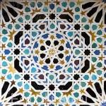 Alicatado geometrico en la sala del Mexuar. La Alhambra,UNESCO. Ciudad de GRANADA. Andalucia. España