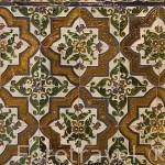 Alicatado geometrico. Palacio de Comares. La Alhambra,UNESCO. Ciudad de GRANADA. Andalucia. España