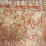 Decoración en una pared del Patio del Harem. La Alhambra, UNESCO. Ciudad de GRANADA. Andalucia. España