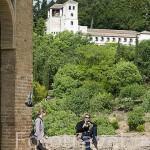 Palacio del Partal y estanque. La Alhambra, UNESCO. Ciudad de GRANADA. Andalucia. España