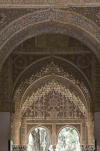 La Sala de los Ajimeces y el mirador de Lindaraja. La Alhambra,UNESCO. Ciudad de GRANADA. Andalucia. España