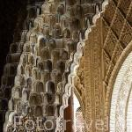 Detalle de mocarabes. Palacio de los Arrayanes. La Alhambra, UNESCO. Ciudad de GRANADA. Andalucia. España
