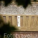 Detalle de una llave en la Puerta del Vino. La Alhambra,UNESCO. Ciudad de GRANADA. Andalucia. España