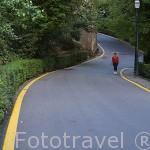 Una de las carreteras de acceso a la Alhambra. Ciudad de GRANADA. Andalucia. España