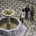 Detalle del patio de la Casa del Castril. Actual Museo Arqueologico. Ciudad de GRANADA. Andalucia. España