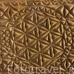 Ladrillos con decoración geometrica. Epoca visigoda. s.V- VII. Museo Arqueológico y etnográfico. Ciudad de GRANADA. Andalucia. España