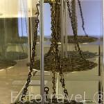 Lamparas de platillo. Epoca emiral califal, s.IX- XI. Mezquita mayor de Madinat Iibira, Atarfe. Museo Arqueológico y etnográfico. Ciudad de GRANADA. Andalucia. España