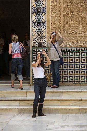 Portico del Cuarto Dorado.Palacio de Comares. La Alhambra,UNESCO. Ciudad de GRANADA. Andalucia. España