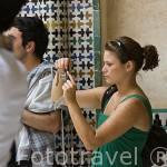 Portico del Cuarto Dorado. Palacio de Comares. La Alhambra,UNESCO. Ciudad de GRANADA. Andalucia. España