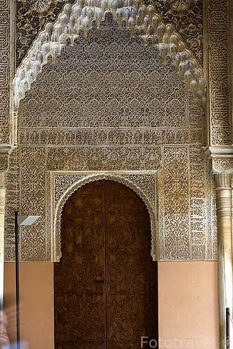 Decoración. Palacio de Comares. La Alhambra,UNESCO. Ciudad de GRANADA. Andalucia. España