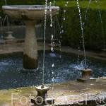 Fuente en el Patio del Cipres de la Sultana. Palacio del Generalife. La Alhambra, UNESCO. Ciudad de GRANADA. Andalucia. España