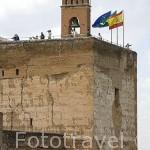 Torre de la Vela. Zona de la Alcazaba. La Alhambra, UNESCO. Ciudad de GRANADA. Andalucia. España