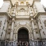Fachada de la Puerta del Perdon. s.XVI. Arquitecto Diego de Siloé y Ambrosio de Vico. Catedral. Ciudad de GRANADA. Andalucia. España