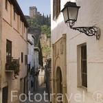 Calle Gloria y al fondo La Alhambra. Barrio del Albaycin. GRANADA. Andalucia. España
