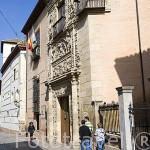 Carrera del Darro y el edificio de Casa de Castril, Museo Arqueológico y Etnográfico. Barrio de Albaycin. GRANADA. Andalucia. España