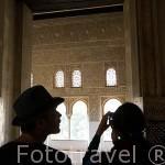 Oratorio en un lateral de la sala del Mexuar.Palacios Nazaries. La Alhambra, UNESCO. Ciudad de GRANADA. Andalucia. España