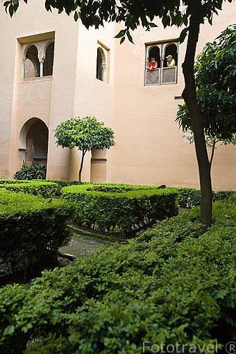 Jardines de Lindaraja. Palacios Nazaries. La Alhambra, UNESCO. Ciudad de GRANADA. Andalucia. España