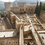 Restos de la ciudad donde residia la guardia de elite. La Alcazaba. La Alhambra, UNESCO. GRANADA. Andalucia. España