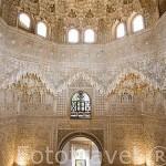 Sala de Dos Hermanas y cupula de mocarabes. La Alhambra, UNESCO. GRANADA. Andalucia. España