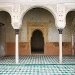 Patio del Harem. La Alhambra, UNESCO. GRANADA. Andalucia. España