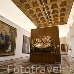 Sala principal del museo de Bellas Artes. En Palacio de Carlos V. La Alhambra, UNESCO. GRANADA. Andalucia. España