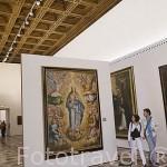 Cuadro Asunción de la Virgen, s.XVII de Fray Juan Sanchez Cotán. Sala principal del museo de Bellas Artes. En Palacio de Carlos V. La Alhambra, UNESCO. GRANADA. Andalucia. España