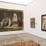 Salida de la familia de Boabdil de la Alhambra, 1880.oleo. por Manuel Gomez Moreno a la izquierda. Museo de Bellas Artes. Ciudad de GRANADA. Andalucia. España