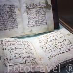 Libros del Corán, arriba del periodo Merini/Nazari y abajo periodo Almohade, finales s.XII-XIII. Museo de la Alhambra. GRANADA. Andalucia. España