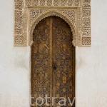 Una puerta en el Patio de Arrayanes. La Alhambra, UNESCO. GRANADA. Andalucia. España