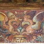 Pinturas murales realizadas entre 1537 y 1539 por Aquiles y Mayner. Peinador de la Reina. Palacios Nazaries. La Alhambra, UNESCO. Ciudad de GRANADA. Andalucia. España