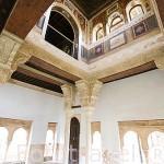 Pinturas murales, s.XVI por Aquiles y Mayner en el Peinador de la Reina. La Alhambra, UNESCO. Ciudad de GRANADA. Andalucia. España