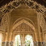 Sala de Dos Hermanas y al fondo el mirador de Lindaraja. La Alhambra, UNESCO. GRANADA. Andalucia. España