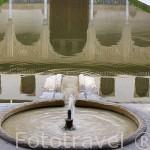 Patio de los Arrayanes y fachada Sur del Palacio de Comares. La Alhambra, UNESCO. Ciudad de GRANADA. Andalucia. España