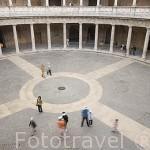Patio renacentista del Palacio de Carlos V. La Alhambra, UNESCO. GRANADA. Andalucia. España