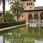 Edificio del Palacio del Partal. La Alhambra, UNESCO. Ciuda de GRANADA. Andalucia. España