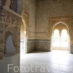 Interiores de la sala principal de la Torre de La Cautiva. ëpoca de Yusuf I. (1333- 1354). La Alhambra, UNESCO. Ciuda de GRANADA. Andalucia. España