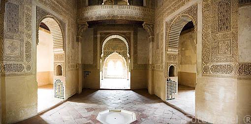 Interior de la sala principal de la Torre de La Cautiva. ëpoca de Yusuf I. (1333- 1354). La Alhambra, UNESCO. Ciuda de GRANADA. Andalucia. España