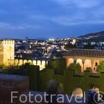 Vista del barrio del Albaycin desde La Alhambra UNESCO. Ciuda de GRANADA. Andalucia. España