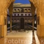 Fachada Sur del Palacio de Comares. La Alhambra, UNESCO. Ciuda de GRANADA. Andalucia. España