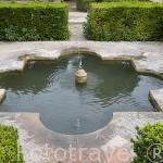 Fuente en los Jardines Nuevos del Generalife. La Alhambra, UNESCO. Ciuda de GRANADA. Andalucia. España