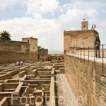 Barrio Castrense donde residia la guardia de elite del sultán. Recinto fortificado de la Alcazaba. La Alhambra, UNESCO. Ciudad de GRANADA. Andalucia. España