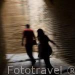 Pasadizos en el interior de la Alcazaba. La Alhambra, UNESCO. Ciudad de GRANADA. Andalucia. España